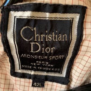 Christian Dior sports jacket men's 42L